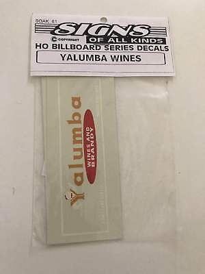 YALUMBA WINES building decal. HO scale JUNE PRICE REDUCTION 1 week only  # 48