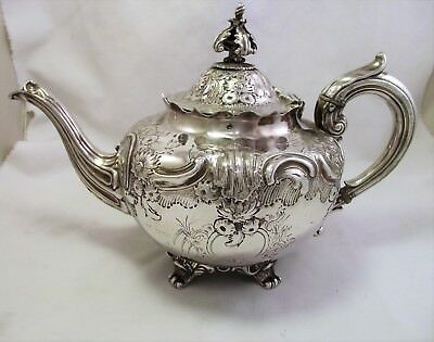 Large Ornate Victorian Silver Plated Tea Pot - Thomas Wilkinson 1870