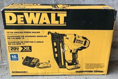 New Dewalt Dcn660D1  16 Ga Angled Finish Nailer 20Vmax Xr Lithium-Ion