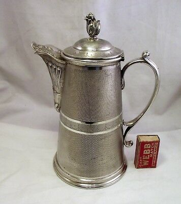 Large Heavy Antique French Silver Plated Beer / Water Jug  - By Cailar Bayard