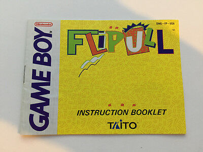 1990 Gameboy Flipull Game Manual Excellent Condition