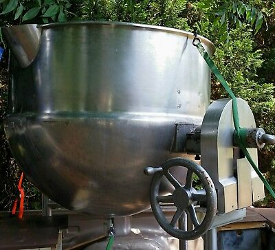 steam jacketed kettle  stainless 150gal. Stew pot