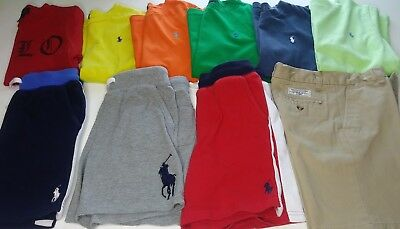 lot of Ralph Lauren polo shirts and shorts boys size 5-6