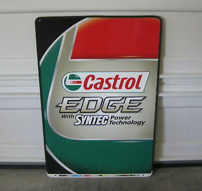 Castrol Edge With Syntec Power Technology Metal Doube Sided Sign