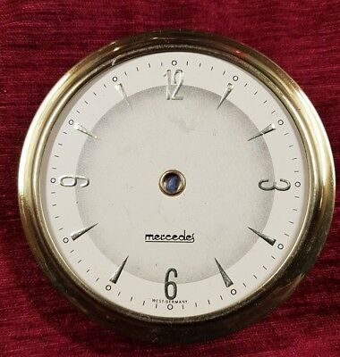 Vintage Original  Mercedes   Clock parts Face glass and frame.