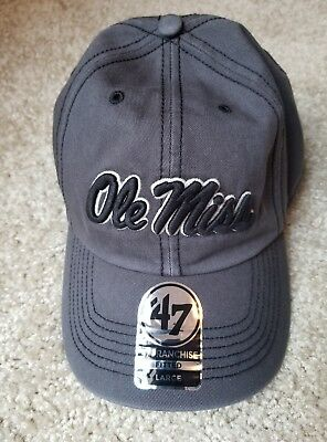 2d6fae4d36f87 New OLE MISS REBELS Baseball Hat Cap - Gray Cotton Twill The Game -  Mississippi