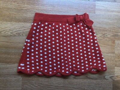 Janie And Jack 4t Red White Polka Dot Knit Skirt