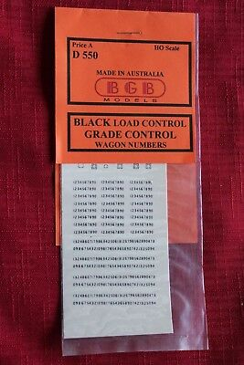 NSW black LOAD GRADE CONTROL LETTERS & Nos 1 week only JUNE price reduction #83