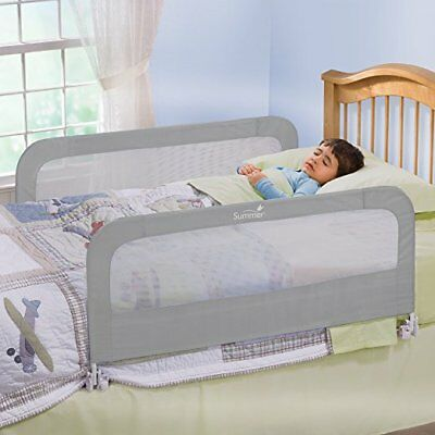 Double Safety Bed rail Grey Essential Item Transitioning Unique Design Secure