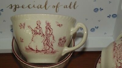 Woods & sons Toile De Jouy Cups and Saucers sets x 8~Wedding Garden Party