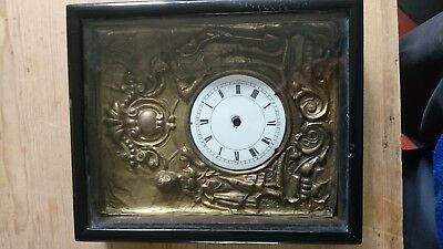 Antique Black Forest clock for spares or repair - postman's alarm type