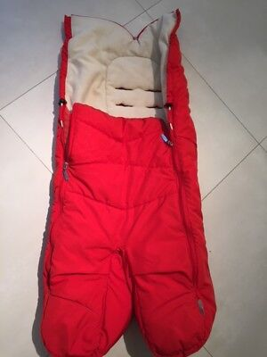 Red Stokke Footmuff for babies and todlers