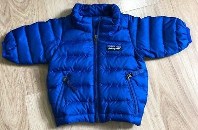 Patagonia Down Sweater Baby Toddler Size 0 Months Blue 5000