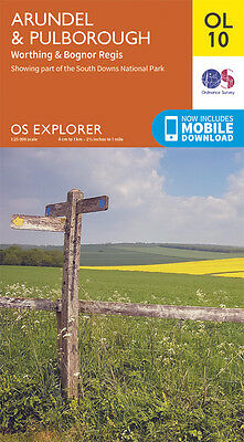 ARUNDEL & PULBOROUGH Map - OL 10 - OS - Ordnance Survey - INC. MOBILE DOWNLOAD