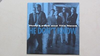 HUEY LEWIS AND THE NEWS - HE DON'T KNOW - Single