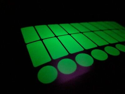Luminescent Glow in the Dark Vinyl Light Switch Stickers x 30
