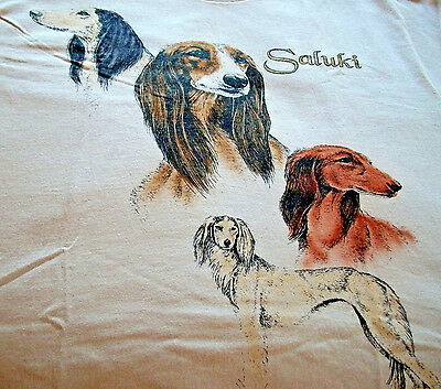 "Saluki T-shirt "" White "" 3XL ( 54 - 56 )"