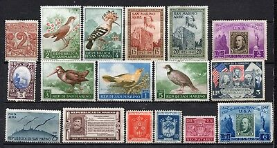 San Marino nice mixed collection,stamps as per scan(4699)
