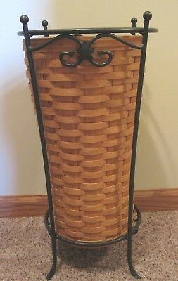 Longaberger Umbrella Basket With Wrougt Iron Stand, Protector, Product Cards