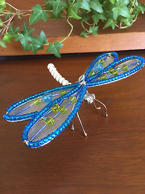 Beaded Dragonfly Ornament Figurine