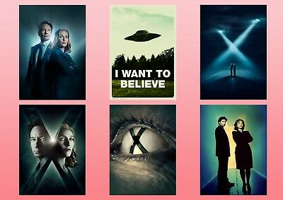 X-FILES  Dana Scully Fox Mulder I Want to Believe  A5 A4 A3 Textless Poster