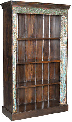 Antique Door Frame Carved Wood Ornate One of a Kind Bookcase/Cabinet,44'' x 83''