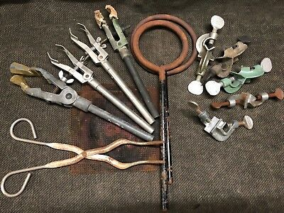 LOT 12pc Lab Glass Clamps Support Rings, clamp, ring