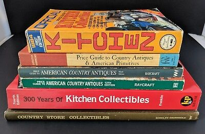 Lot of 6 Kitchen/Country Antique Collectible Price Guides