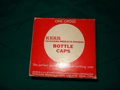 Kerr Box of Crown Caps Breweriana Add to Crown Cap Collection