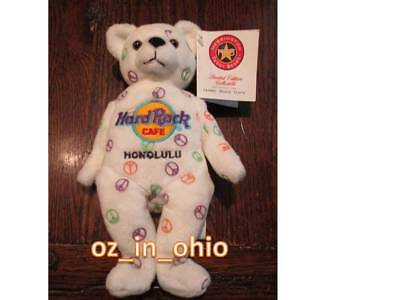 Honolulu Limited Edition Hard Rock Cafe Herrington Bear new with Tag