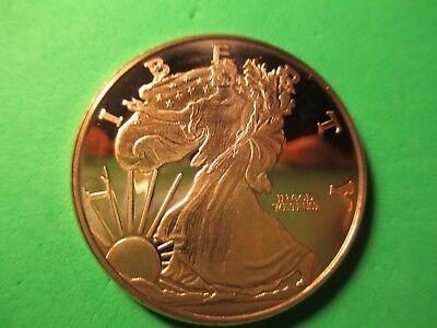 Walking Liberty 1 oz. Copper Round