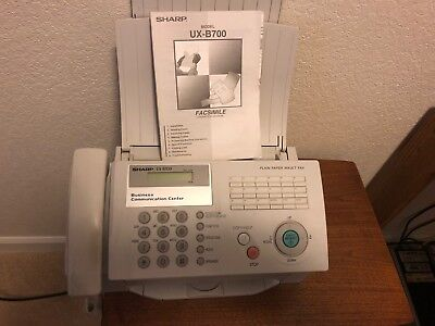 Fax Machine-Sharp Model UX-B700 with telephone--Inkjet model