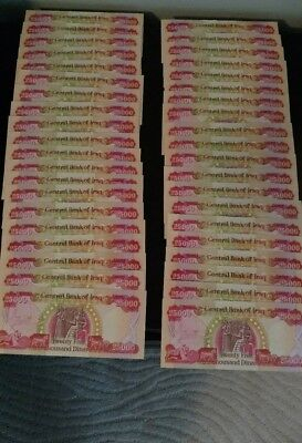 1 Million Iraqi Dinar 1,000,000 (40) 25,000 Note Uncirculated!! Authentic! Iqd!
