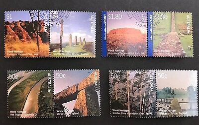 2005 Australia U.k World Heritage Joint Issue Set 8 Stamps