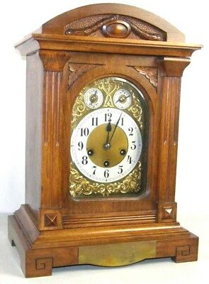 Antique Junghans Westminster Chime Mantel Bracket Clock