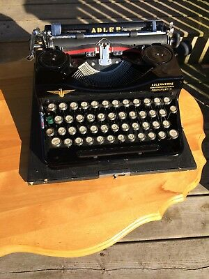 Antique Adler Typewriter Adlerwerks + Case Germany