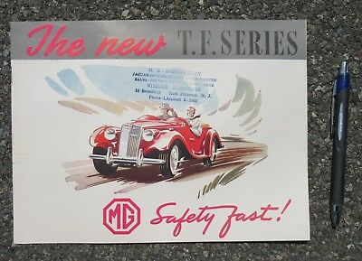 Mg T.f. Series Vintage 1955 Advertising Brochure