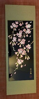 Japanese Wall Hanging Pink Flowers