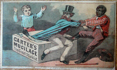 Vintage Black Americana Carter's Mucilage Advertising Victorian Trade Card