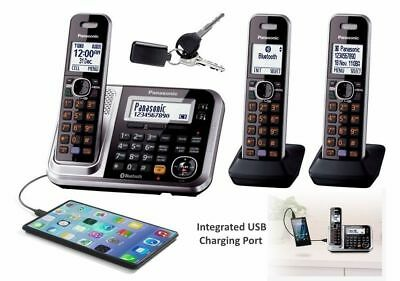 Panasonic triple DECT Bluetooth 3 Cordless Phone with A/Machine KX-TG7893AZS