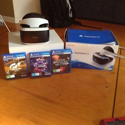 Sony PS VR PlayStation Virtual Reality Headset Head Mounted Display Helmet 3d
