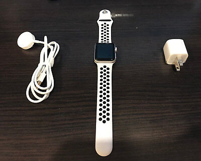 21a41b8f82b9c Apple Watch Series 3 Nike+ 38mm Silver Aluminium Pure Platinum Black Nike  Sport