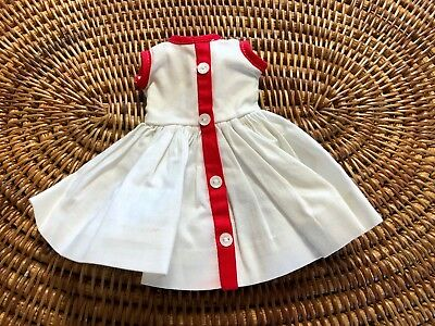 "Vintage 1950's Madame Alexander 10"" CISSETTE Doll Tagged White Cotton Dress!"