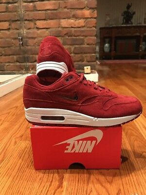 air max 1 jewel red suede