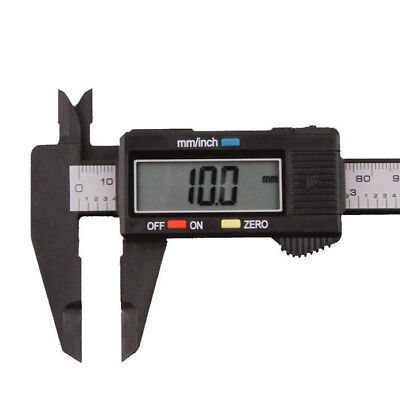 LCD Screen Digital Electronic Carbon Fiber Vernier Caliper Measuring 150mm/6""