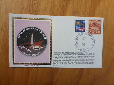 Vintage Usa Colorano Silk Illustrated Space Fdc - Terminal Test Countdown