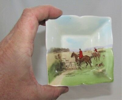 Royal Doulton Small Dish Going To Covert D6326 Charles Simpson Foxhunting
