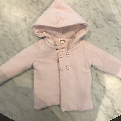 Pure Baby Knitted Coat Baby Pink