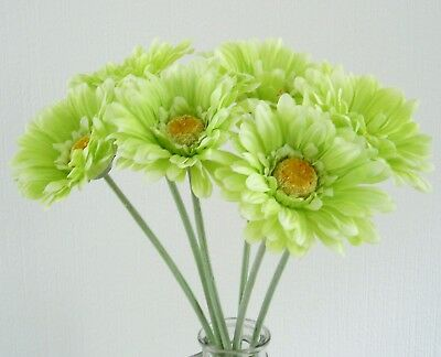 Quality artificial silk flowers lime green gerbera bunch of 6 quality artificial silk flowers lime green gerbera bunch of 6 stems mightylinksfo