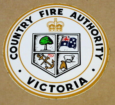 VINTAGE CFA COUNTRY FIRE AUTHORITY STICKER 63mm DIAMETER